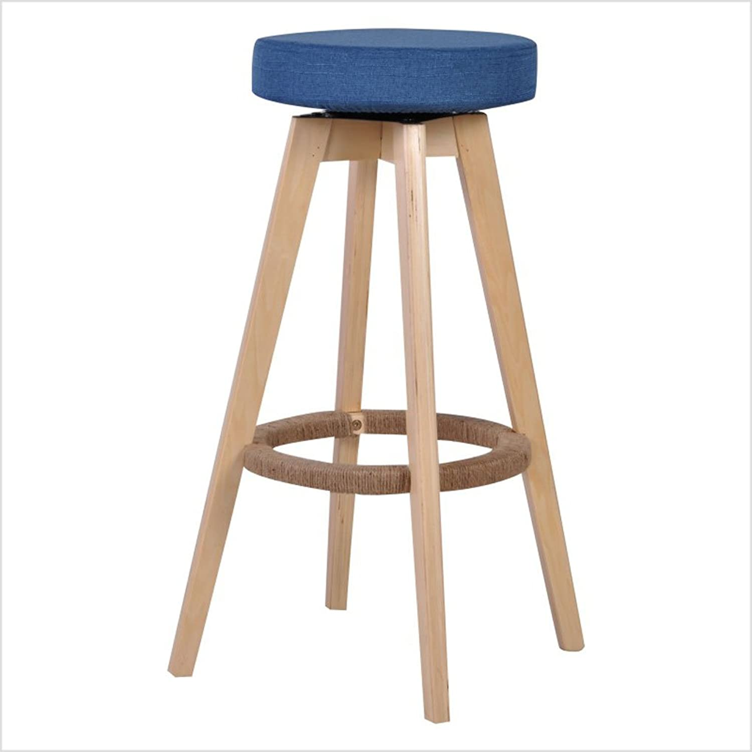 Solid Wood bar Chairs Fashion redate bar Chair Simple High Stool Bench Household Bar Stool Chair 37 × 37 × 73.5cm (color    4)