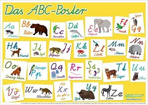 mindmemo Lernposter - Das ABC Poster: Schreibschrift (Schulausgangsschrift) Lernen kinderleicht - DinA2 PremiumEdition ( 27. Oktober 2014 )