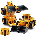 YARMOSHI Bulldozer Robot Tractor with Remote Control and USB Charger. Lights Up