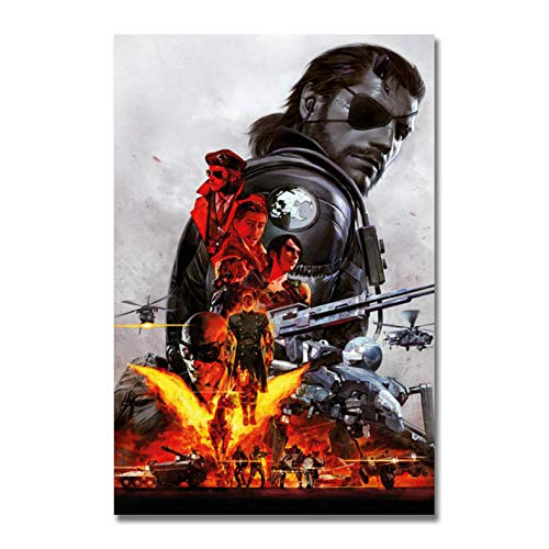 muyichen Imprimir En Lienzo Metal Gear Solid V The Ghost Pain Art Canvas Poster Print Solid Snake Game Cuadro De Pared Pintura Sin Marco Ra473 40X60Cm Sin Marco