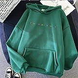 Moda Sudaderas Jersey Sweater Los Estilos Casuales Tratan A Las Personas con Amabilidad Moda Mujer Vintage Casual Punk Letter Hip Hop Sudadera con Capucha XL Lv01