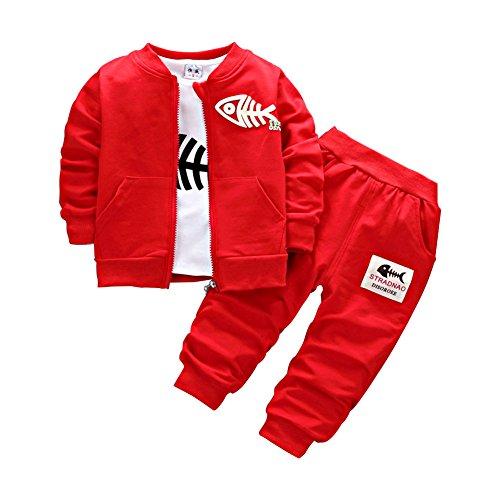 Neugeborene Baby Jungen Mantel + Hosen + Hemden Bekleidungsset kleinkinder Kausal 3 Teile Outfits