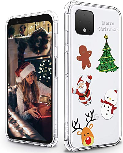 Cute Google Pixel 4 XL Case with Christmas Pattern Soft Flexible TPU Shockproof Protective Bumper Case for Google Pixel 4 XL - Christmas 3#