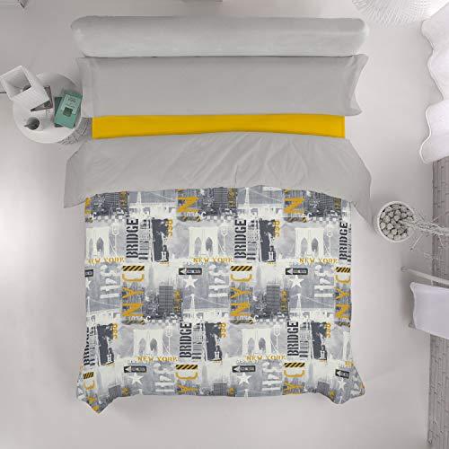 VISTIENDOHOGAR - Juego de Funda nórdica Big Apple - Cama de 105 (3 Piezas) - Impresión Digital - 100% algodón - 144 Hilos