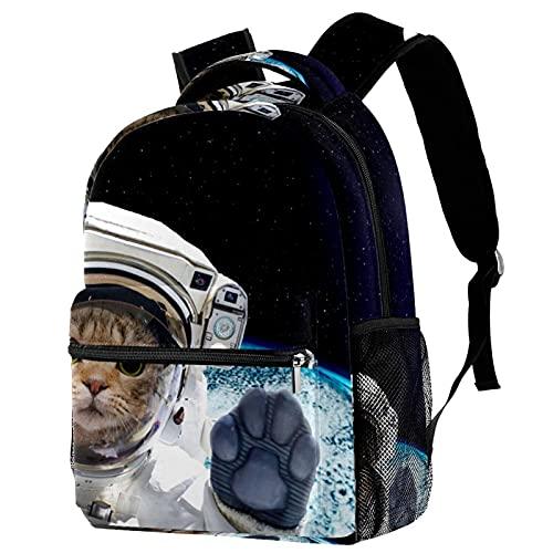 RuppertTextile Zaino per ragazze e ragazzi Bookbag Multiuso Daypack Borsa da viaggio all'aperto Spazio gatto con tasca taglia Size