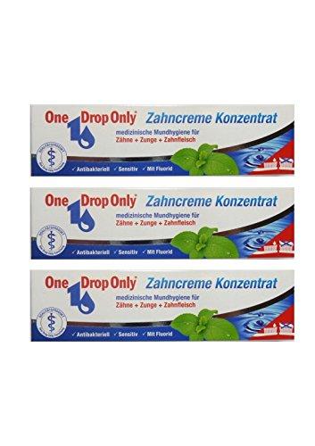 3x One Drop Only Zahncreme Konzentrat 25ml Antibakteriell Zahnpasta, Toothpaste