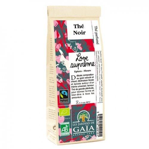 JARDINS DE GAÏA - Love Suprême (épices, fleurs) Sachet de 100 g - Thé noir parfumé