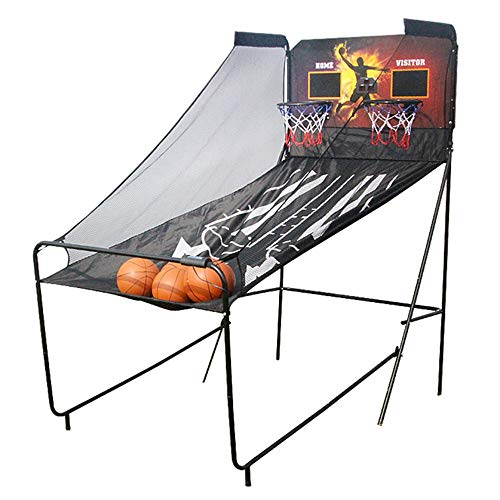 Aro de Baloncesto portátil, Juego de Arcade Soporte de Baloncesto Doble máquina de Tiro al Blanco de puntuación electrónica