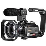 Caméscope 4K, Caméra Vidéo ORDRO AC5 avec Zoom Optique 12x 3.1 IPS Ultra HD 1080P 60FPS Caméscope Numérique WiFi à écran Tactile avec Caméscope avec Lentille de Microphone Grand Angle