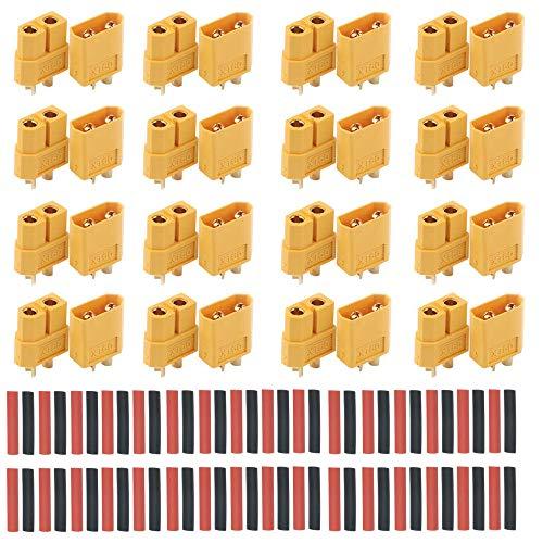 RUNCCI-YUN 32 Stück (16 Paar) XT60 Connector -XT60 Männlich Weiblich Rundstecker Stecker - Hochstrom Stecker für RC Lipo Akku