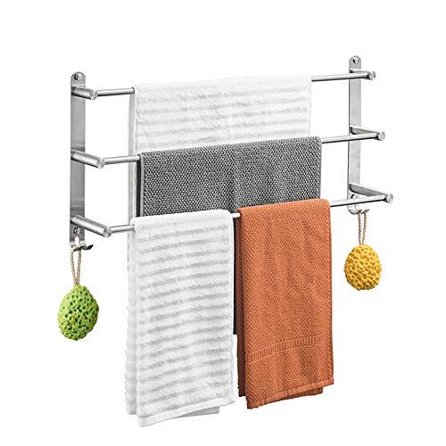 Handtuchhalter Rack Edelstahl gebürstet 3-Schicht Handtuchhalter Wand-Badetuch Aufhänger für Badezimmer Dusche 6 Größen verfügbar