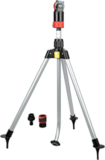 Eden 11530-EDAMZ Multi-Pattern Sprinkler Plus Misting System, Black, Red, Gray