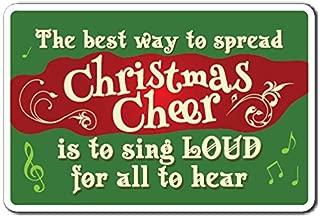 CHRISTMAS CHEER Sign christmas song season holiday merry carol   Indoor/Outdoor   12