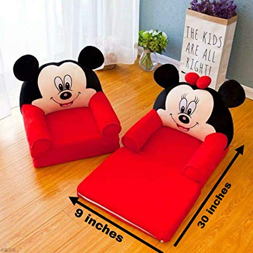NKK PNP Baby Sofa/Chair Come Bed for 3-26 Months (Red & Black)