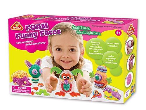 Leo & Emma Arcilla de secado al aire para niños, monstruos divertidos, 24 piezas, juego de manualidades para niños, arcilla seca al aire, arcilla para modelar