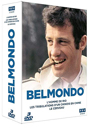 Coffret jean-paul belmondo 3 films : l'homme de rio ; les tribulations d'un chinois en chine : le cerveau [FR Import]