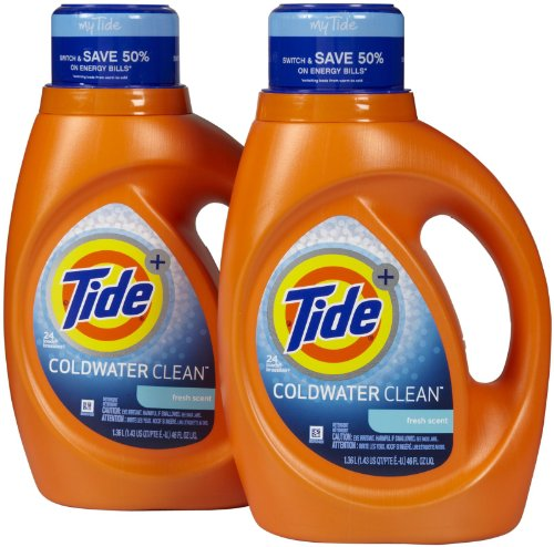 Tide Coldwater Clean Liquid Laundry Detergent - 46 oz - Fresh - 2 pk
