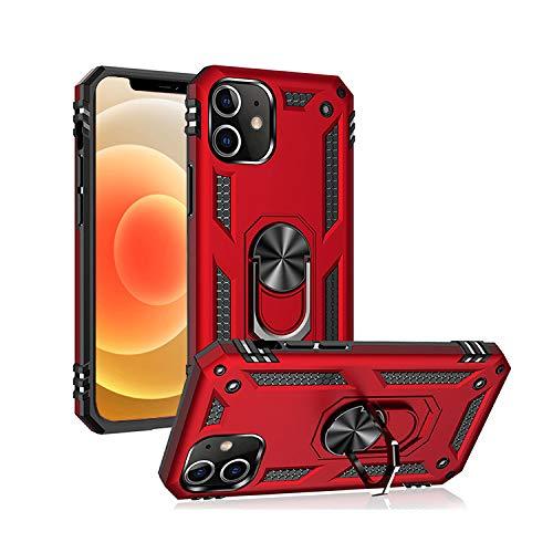 Funda Heavy Duty, Funda Uso rudo, Military Armour Yuu-Goo para iPhone 11,11Pro,8 Tecnología de absorción de Impacto, Anillo para Dedo y Soporte de Celular con imán (iPhone 11, Rojo)