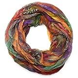 styleBREAKER Echarpe Tube Lumineuse - Soyeuse- Froissée 01016064, couleur:multicolore