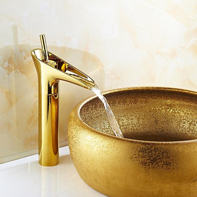 Klicken Sie auf das verGoldete Bronze waschtischmischer
