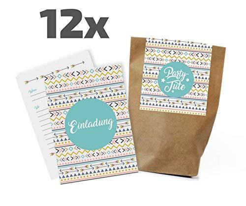 Juego de 12 tarjetas de invitación de flores para cumpleaños infantiles, fiestas, bolsas de regalo, invitaciones, cumpleaños, niños, niñas