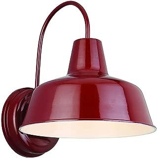 Design House 520559 Mason 1 Light Indoor/Outdoor Wall Light, Rustic Red