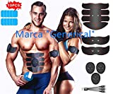 Generical Electroestimulador Muscular Abdominales丨 USB Recargable Masajeador Eléctrico Cinturón.6 Modos y 10 Niveles de Intensidad EMS Estimulador Muscular丨 Hombre/Mujer
