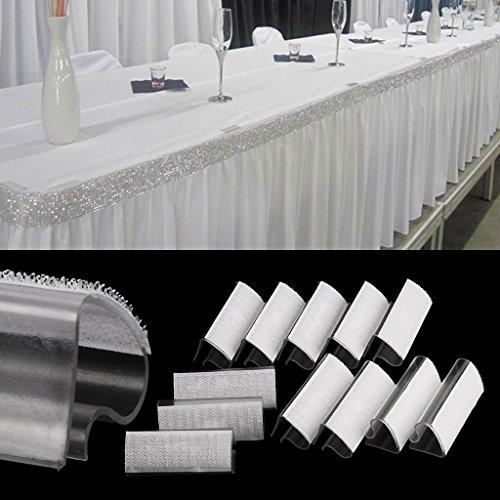 Yunso Tischklammern,12 Stücke Kunststoff Klar Tischdecke Tischabdeckung Clips Halter Clamp Party Picknick Startseite