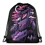 WH-CLA Cinch Bags Games Dreamland Unique Print Gym Anime Sport Goodie Bags Storage Lightweight Party Durable Favor Bags Drawstring Bags Cinch Bags Wrapping Gift Bag Drawstring Backpacks