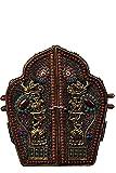 LAOJUNLU Plata tibetana batida a mano grabada filigrana incrustada piedra preciosa budista nicho antiguo obra maestra colección de solitario chino tradicional joyería