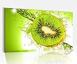 Acrylglasbild 80x50cm Kiwi Wasser Tropfen Obst Küche