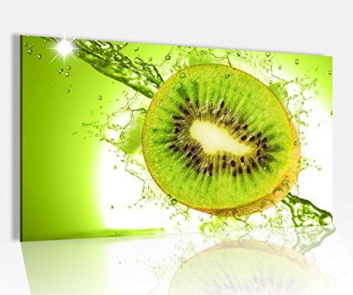 Acrylglasbild 80x50cm Kiwi Wasser Tropfen Obst Küche Glasbild Bilder Acrylglas Acrylglasbilder Wandbild 14D231, Acrylglas Größe4:80cmx50cm