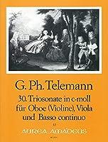 TELEMANN - Trio Sonata en Do menor (TWV:42/c 5) para Oboe (Violin), Viola y BC (Partitura/Partes)