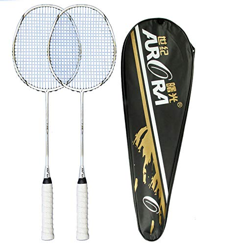 Buy and buy at Brandon Badminton Racket Carbon Fiber Badminton Racket Two Packs Amateur Primary Badminton RacketWhiteA