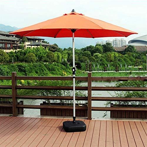FCXBQ Parasol de jardín de 2,7 m, portátil, móvil, balcón, sombrilla de Playa, Parasol con Mecanismo de inclinación para el Mercado de Eventos comerciales y de Vacaciones (Color: Naranja)