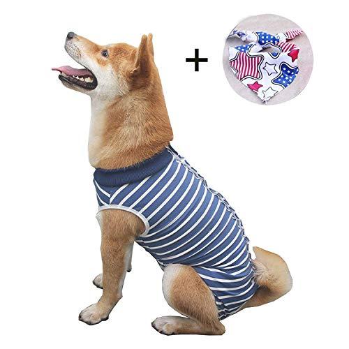 Isyunen Hund chirurgischer Regenerationsanzug Bauchwundschutz Medizinisches Hemd, nach Operationen, E-Kragen Alternative für Hunde, Haustier Kleidung im Innenbereich