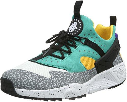Nike Herren Air Huarache Utility Premium Sneaker, Weiß (White/Blue/Green), 40.5 EU