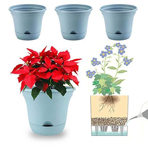 20 cm vaso da fiori autoirrigante vaso di stoccaggio dell acqua vaso da fiori vaso profondo vaso fioriera contenitore per piante da appartamento, fiori, erbe, piante grasse decorazione della casa