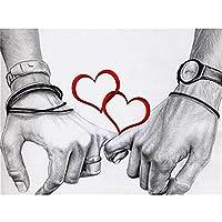 フルラウンドダイヤモンド絵画愛情のあるカップルラインストーンの刺繡写真クロスステッチキットダイヤモンドモザイククラフト