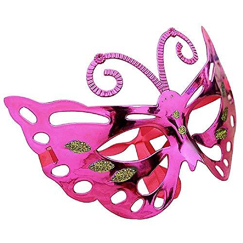 Venetiaans masker - vlinder - gekleurd - kostuum - carnaval - halloween - vrouw - meisje - origineel cadeau idee kerst verjaardag - fuchsia cosplay