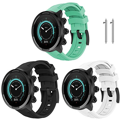 Junboer Compatible with Suunto 9 Watch Band, Premium Soft Silicone Replacement Band Men Women Wristbands Sports Strap for Suunto 9 Smartwatch