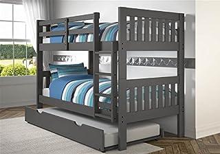 Donco Kids 1010-3TTDG_503-DG Mission Bunk Bed withTrundle Twin/Twin Dark Grey (B079K8Y686) | Amazon price tracker / tracking, Amazon price history charts, Amazon price watches, Amazon price drop alerts