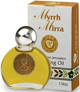 Holy Land Market Messiah (Masheiach) Blessing of Jerusalem Anointing Oil - 7.5ml (1/4 OZ) (Myrrh)