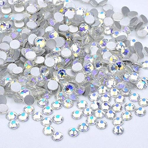 PENVEAT SS16 SS20 SS30 Amethyst AB Glas Flatback Strass Runde Kristall Steine Applique Nail Art Strass Perlen für DIY Handwerk, Sky Blue, SS20 1440Pcs
