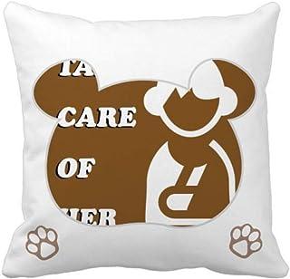 OFFbb-USA Care - Funda cuadrada para almohada