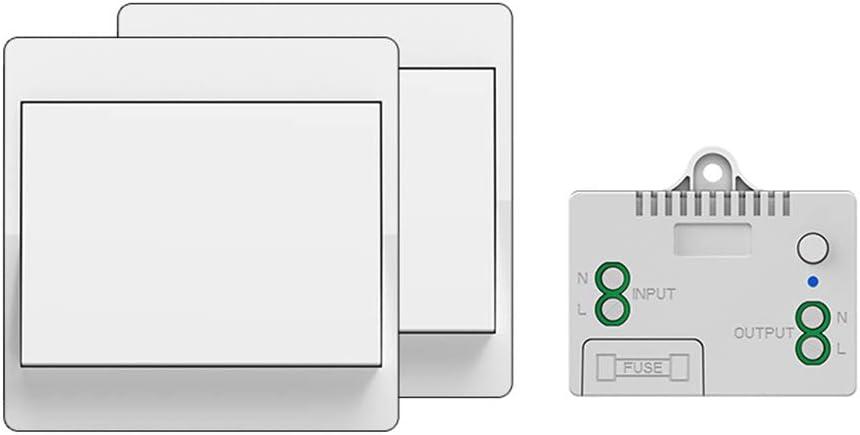 Interruptor inalámbrico auto alimentado, sin cables, sin batería, control remoto inalámbrico, iluminación y aparatos eléctricos, a prueba de agua y seguro, se puede colocar directamente en el baño