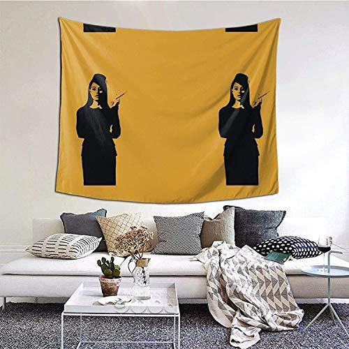 YeeATZ Tapiz de pared minimalista Ron Swanson, diseño de anime, decoración para el hogar, sala de estar, dormitorio, 15 x 150 cm