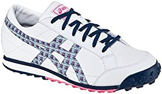 Asics Ladies Matchplay Classic Golf Shoes - White/Navy