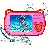 キッズカメラ 防水 CamKing 子供 カメラ防水 デジタルカメラ トイカメラ 子供用 カメラ 知育玩具 K6 2.7インチ デジカメ 8X 1080P録画 カメラ おもちゃ 子供 (レッド) 子供の日 誕生日カード