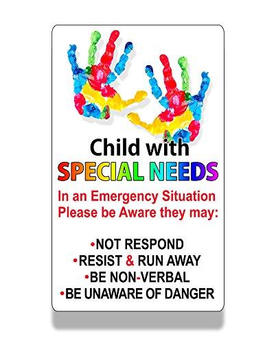 Child Special Needs Cling Window Door Safe Safety Recuse 1st Responder 911 Static Alert